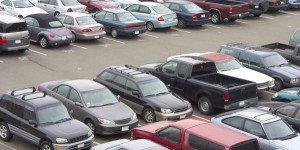 Be safe on the holidays when parking in large areas.